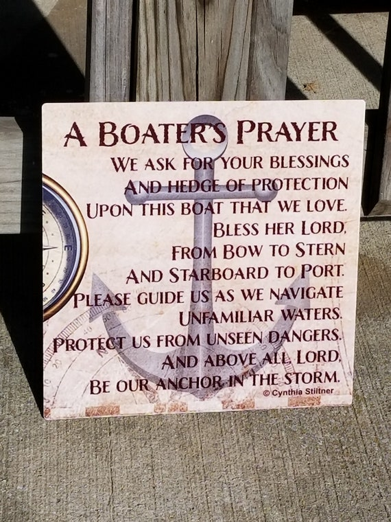 BOATER'S PRAYER - Boat Blessing - Prayer for Boaters - Nautical Prayer - Love Our Boat - Boat Anchor - First Mate - Boat Captain Gift