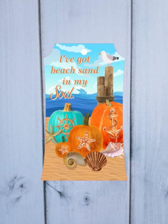 Beach Theme Sea Shells Nautical Door Hanger  Digital Download