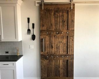 Rich & Rustic Interior Barn Door - Rough Sawn - Barn Door with optional Barn Hardware - Fir Barn Door - Wooden Door