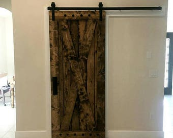 Etonnant X Brace Barn Door   Sliding Wooden Door   Barn Door With Hardware    Farmhouse Style Door   Rustic Interior Barn Door   Barn Door Package