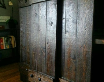 RUSTIC Cedar Shutters - Window Shutters - Primitive shutters - Wood Shutters - Interior - Exterior - Decorative Shutters - Cedar Shutters