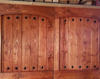 Arched Mid Bar Barn Door - Sliding Wooden Door - Barn Door Hardware Available - Farmhouse Door - Rustic Interior Barn Door - Barn Door