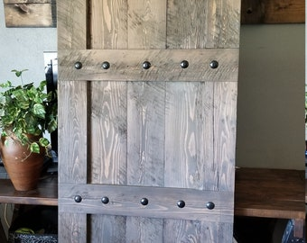 Rich & Rustic Interior Barn Door - Rough Sawn - Barn Door with optional Barn Hardware - Fir Barn Door - Wooden Door