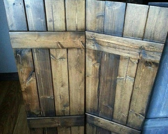 "48"" RUSTIC wood shutters - Primitive shutters - Decorative Shutters - Interior Shutters - Exterior Shutters - Wall Decor - Wooden Shutters"