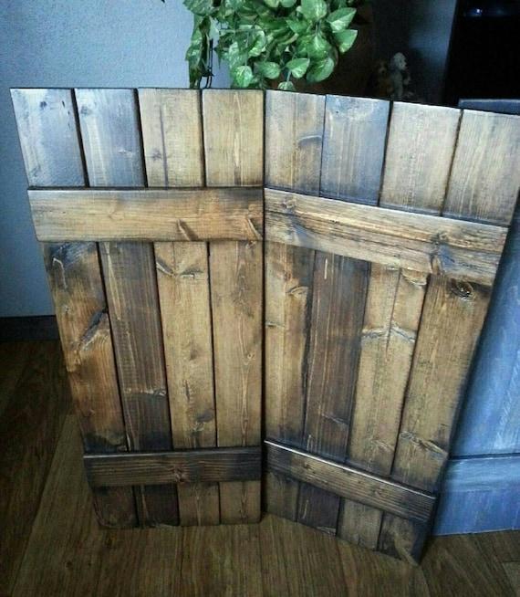 48 RUSTIC wood shutters Primitive shutters | Etsy