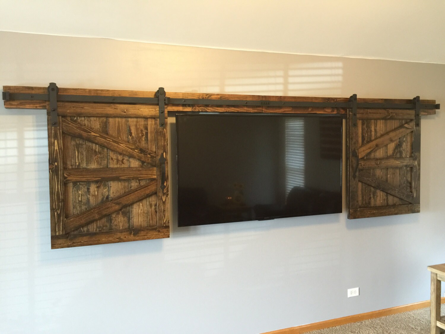 Reserved For Sue Rustic Tv Barn Door Sliding Window
