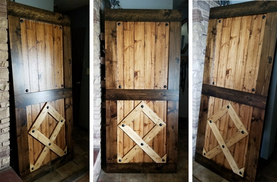 Custom Rune Barn Doors Viking Symbol Sliding Wooden Door Barn