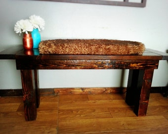 Rustic Bench ~ Solid Wood Farmhouse Style Bench ~ Classic Bench ~ Cabin Decor ~ Entryway Furniture