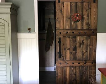 Horizon Interior Barn Door   Sliding Wooden Door   Barn Door W/ Hardware    Farmhouse