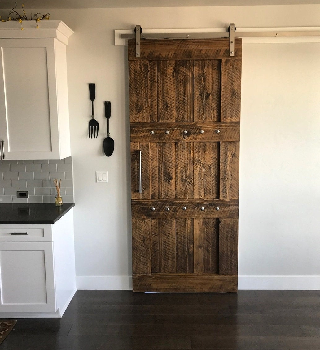 Rich & Rustic Interior Barn Door - Rough Sawn - Barn Door ...