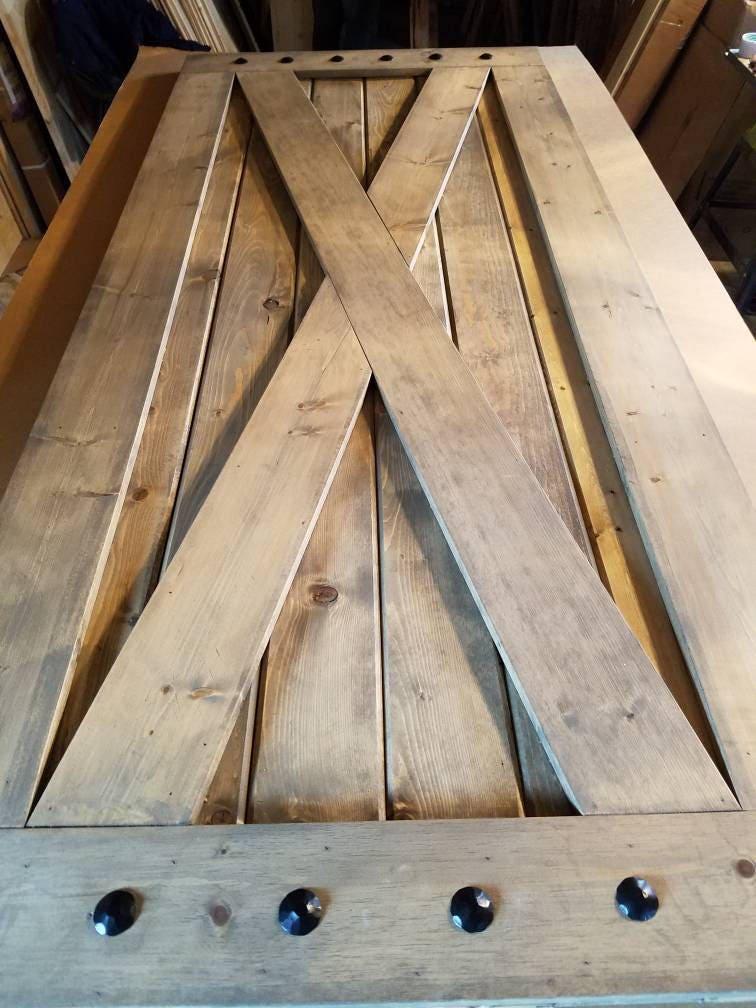X Brace Barn Door Sliding Wooden Door Barn Door With