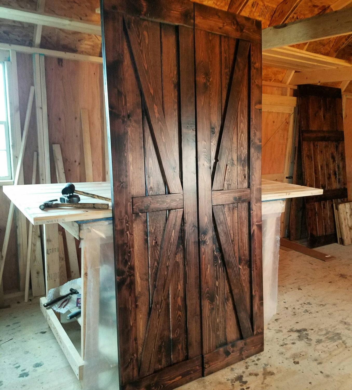 Double Barn Doors British Brace Doors Sliding Wooden