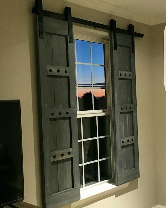 Interior Window Barn Shutters Sliding Shutters Barn Door | Etsy