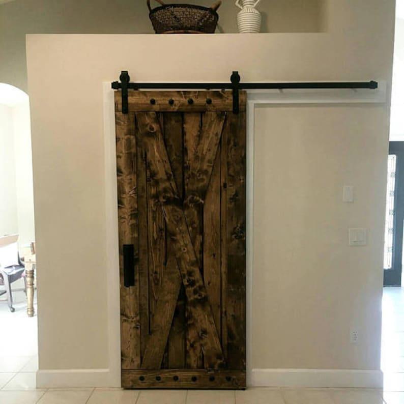 image 0 & X Brace Barn Door Sliding Wooden Door Barn Door with | Etsy