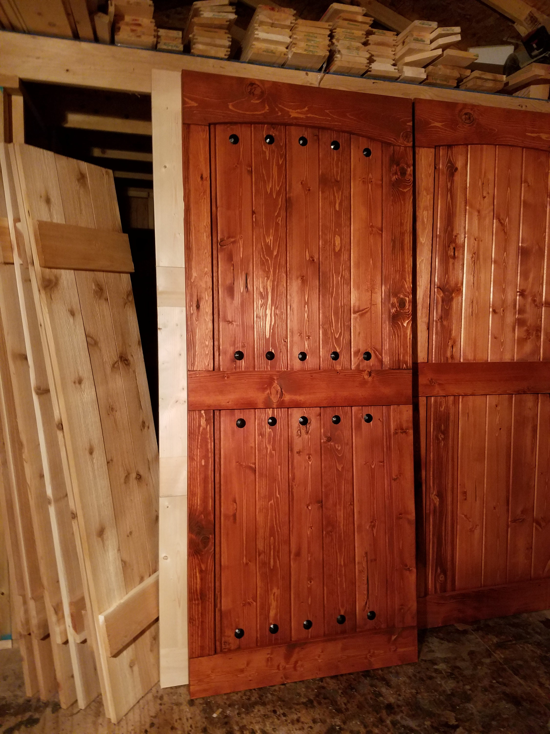 Arched Mid Bar Barn Door   Sliding Wooden Door   Barn Door Hardware  Available   Farmhouse Door   Rustic Interior Barn Door   Barn Door