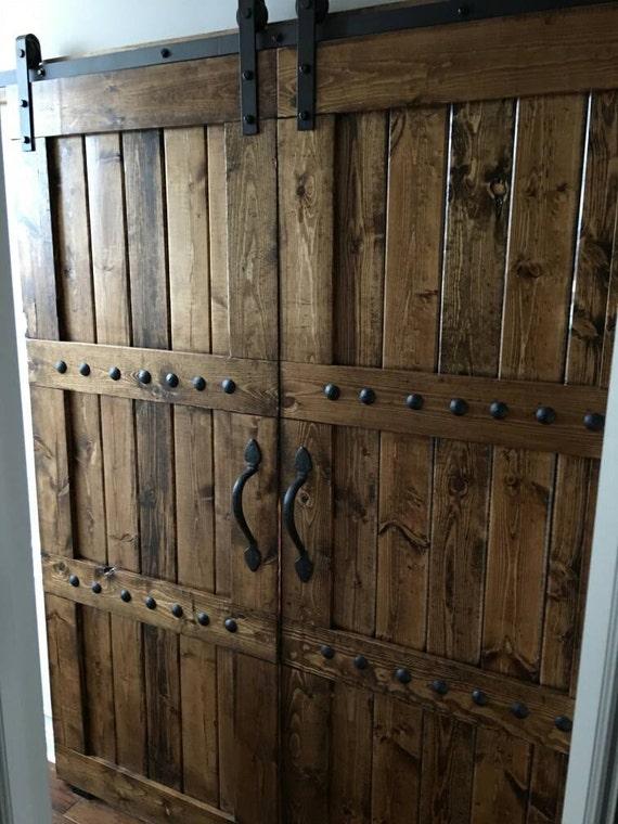 Interior Double Barn Door Package Double Doors Sliding Etsy