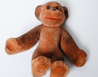 Vintage Russian Rubber Toy, monkey  (CI1012)