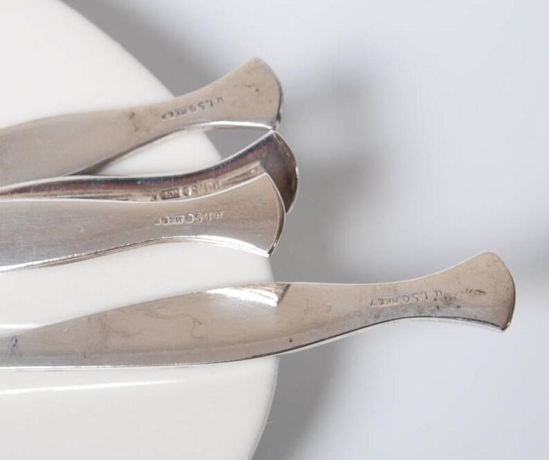Alpaka Set of 6 vintage small Metal Tea or Coffee spoons