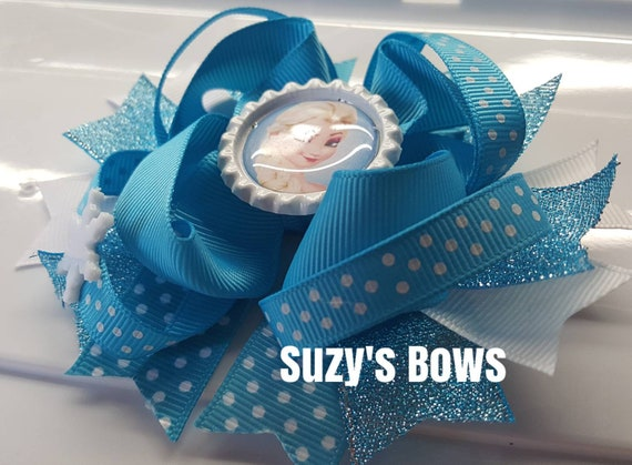 """Frozen 2 Inspired 2""""Hair Clips!!!Soo Cute.Loopy Bows"""