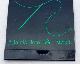 Vintage 1970s Atlantis Hotel Zurich Courtesy Sewing Kit / Vintage Notions / Vintage Sewing