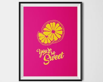 Affiche colorée CITRON so Sweet