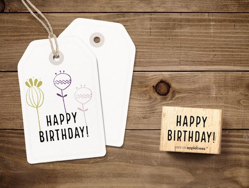 Typostempel Happy Birthday image 0