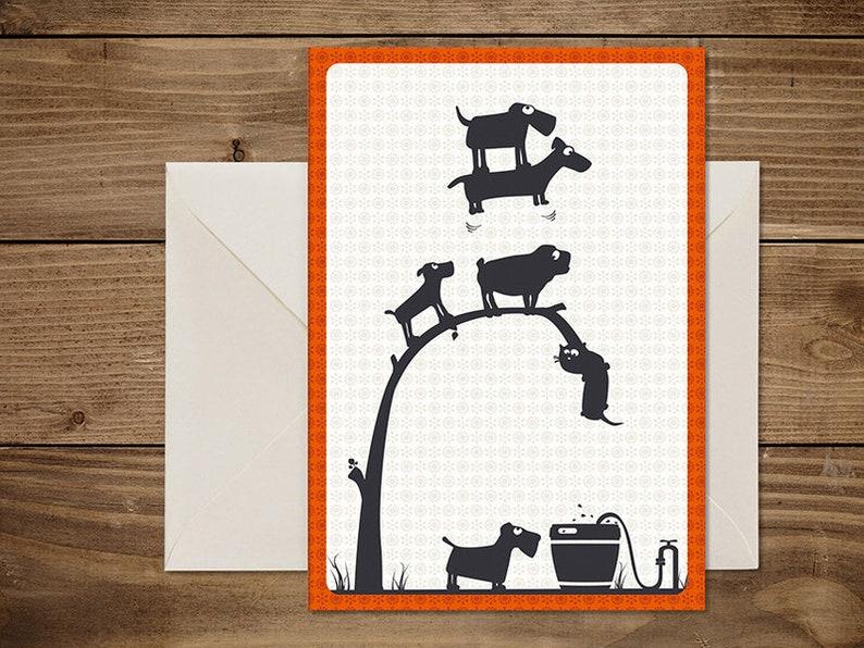Folding card /' water trough /'