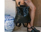 Black Leather Backpack, Back To School Backpack, Top Handle Bag, Women Leather Bag, Handmade Bag, Large Backpack, Leather Handle Bag
