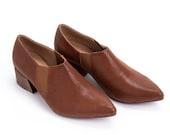Pointed Vegan Shoes, Elegant Winter Booties, Sizes 6 - 9.5 US