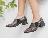 Women Shoes, Snake Shoes, Pointed Shoes, Vegan Shoes, Women Heels Shoes, Snake Heels, Oxford Shoes, No Lace Shoes, 6-9 Shoe Sizes