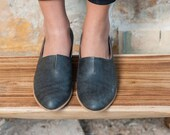 Women Shoes, Leather Shoes, Ballerina Shoes, Women Slip Ons, Leather Loafers, Flat Shoes, Everyday Shoes, No Tie Shoes, Black Pointed Shoes