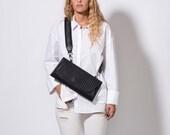Black Clutch, Leather Bag For Women, Crossbody Bag, Leather Clutch, Black Handbag, Birthday Gift, Shoulder Bag, Make Up Clutch, Purse Bag
