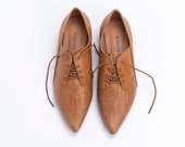 Women Leather Shoes, Leather Flats, Derby Shoes, Tie Shoes, Pointed Flats, Beige Derby Shoes, Comfortable Flats, Pointy Shoes, Bridesmaid