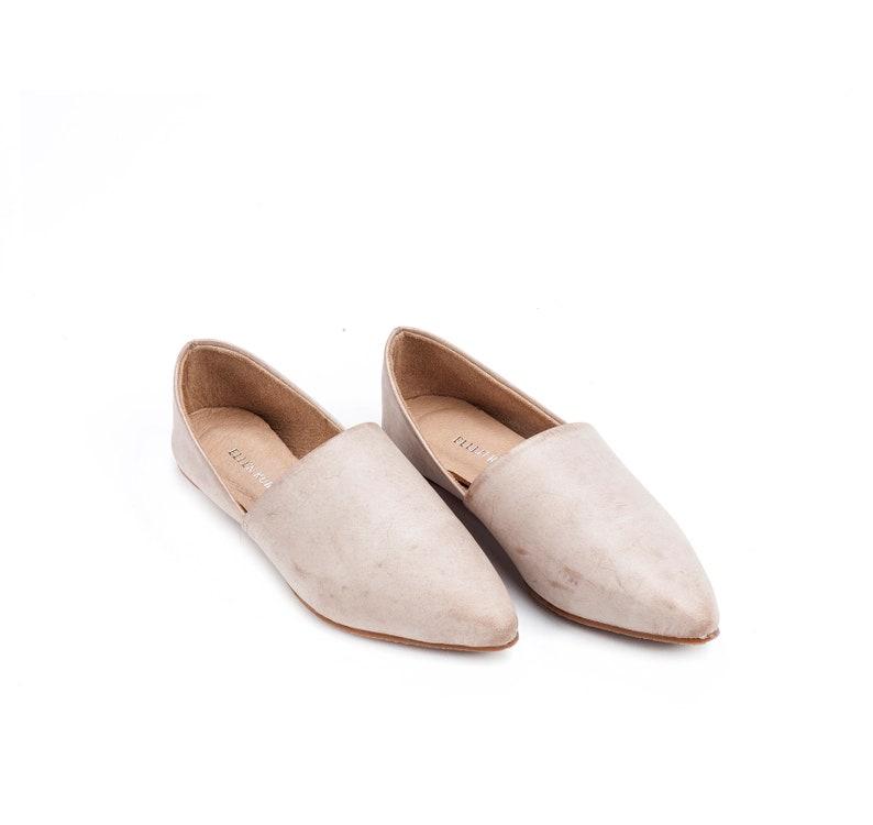 Comfortable Shoes Leather Flats Off-White Shoes Minimalist Shoes Women/'s Shoes Nude Shoes Slip On Shoes Womens Flats Leather Shoes