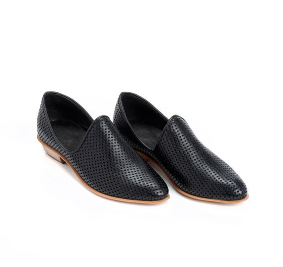 Charlie Leather Shoes Heels Day Shoes Shoes Comfortable Textured Leather Shoes Black Wooden Every Flat Women Shoes Shoes xASawqn