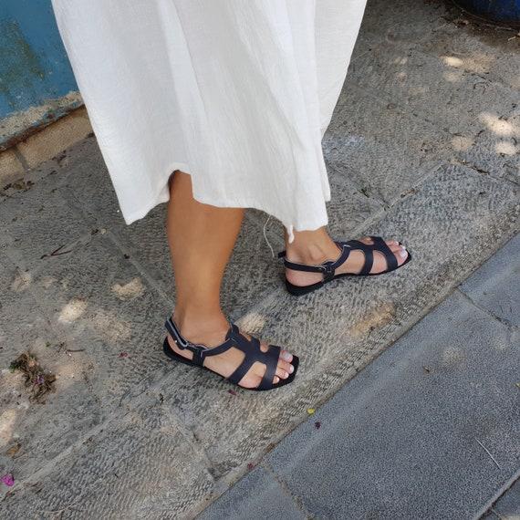 Sandals Women Sandals Sandals Sandals summer Sandals Flat Sandals Shoes Shoes Greek Leather Summer Black Boho Sandals Casual wYpCzqz