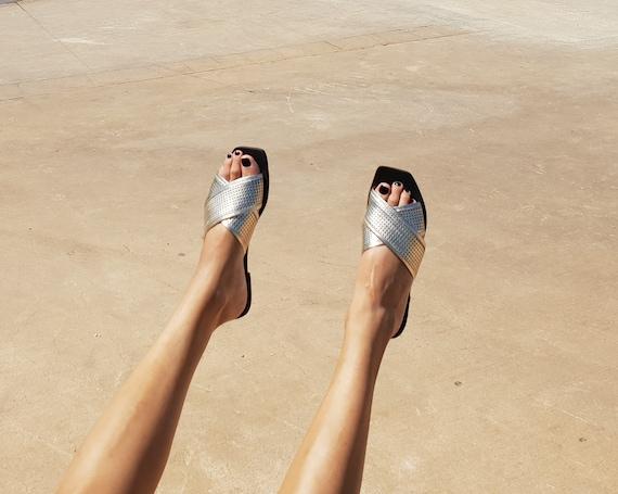 Criss Sandals Shoe Sandal Sandals Cross On Leather Summer Sandals Sandals Summer Women Sandals Gold Slides Sandals Leather Slip Flat wqp4XWFxS