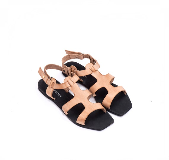 Summer Leather Flat Shoe Sandals Women's Sandals Sandals Summer Greek Boho Sandals Shoes Beige Sandals Sandal Strap Sandal Sandals 7g4fq4F