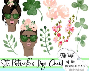 watercolor st patricks day clipart png file watercolor st patrick's day clip art set watercolor shamrock png file medium skin tone