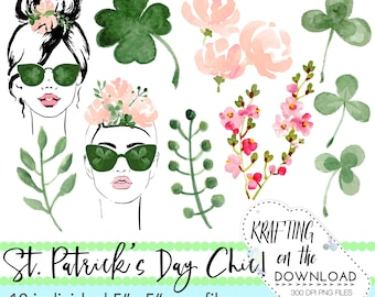 watercolor st patricks day clipart png file watercolor st patrick's day clip art set watercolor shamrock png file watercolor peony clipart