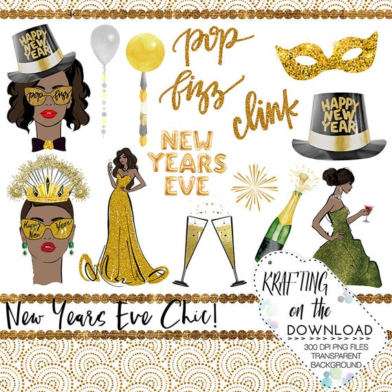 watercolor new years eve clipart set new year medium skin tone etsy watercolor new years eve clipart set new year medium skin tone planner girl clip art new year s eve planner girl png file new year png files