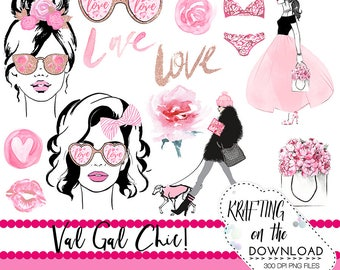 watercolor valentines day clipart png file watercolor valentine's day clip art set watercolor planner girl png file valentine girl clipart