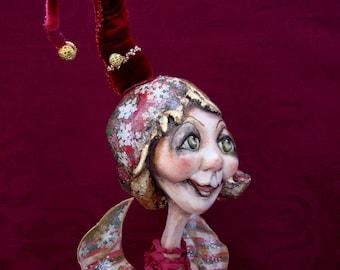 Christmas Angel - New year art doll - Interior OOAK doll for Christmas decoration - Christmas angels believer