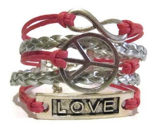 Infinity, Peace, Love **Choose your Colors**