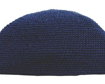 137ff5b17b3 Muslim Dark Blue Hand-crocheted Durable Cotton Islamic Man Cap