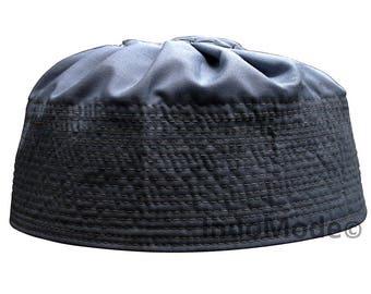 Kufi Men Embroidered Sandala Blue Prayer Skull Hats Elastic Musulim QCedWxorB