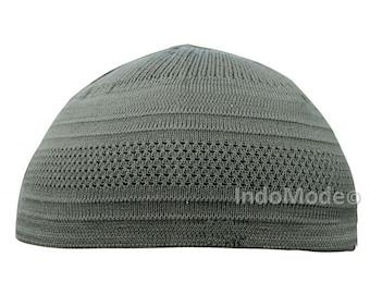 TheKufi Dark Olive Green Cotton Stretch-knit Kufi Hat Skull Cap Topi Beanie 8902f0b4bf90