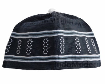 a7475e7523d787 Baby Black and White Stretch-knit Cotton Kufi Hats