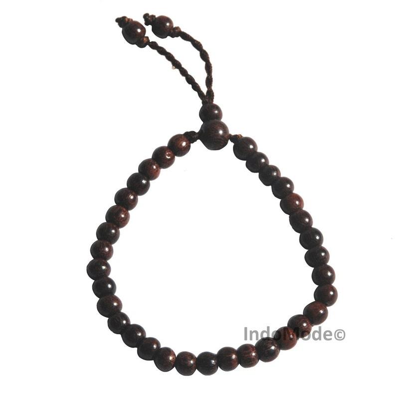 Handmade Small 33 Prayer Bead Exotic Tamarind Wood Tasbih Bracelet 6mm Round Beads
