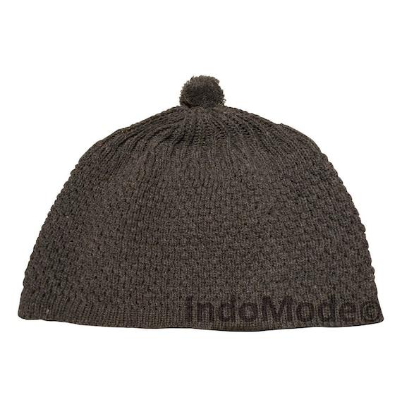826e9bbb310 Dark Gray Turkish-style Warm Knit Weave Stretchy Beanie Hat